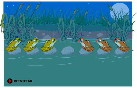 задача със скачащи жаби